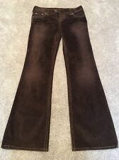 Women's Silver TINA Brown Velvet Boot Cut Jeans Size 30 Inseam 33