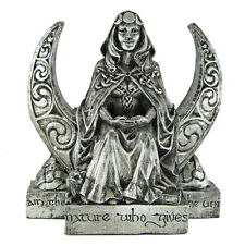 Moon Goddess Statue - Silver Finish - Dryad Designs - Wiccan Wicca Pagan Moon