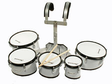 5er Marching drum set timptoms + soporte de transporte + accesorios