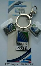 Rugby World Cup 2015 Key Ring -  3 tag World Cup logo