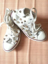 Converse chuck taylor tous star gold spike stud street style fashion youth shoe