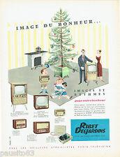 PUBLICITE ADVERTISING 125  1956  RIBET-DESJARDINS  téléviseur radio éléctrophone