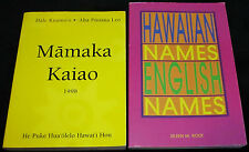 Hawaii Language Study MAMAKA KAIAO Dictionary-HAWAIIAN-ENGLISH NAMES Reference