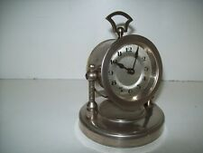 Antique Retro Tilting Clock Very Unusual Design Working