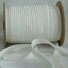 """WHITE ONE (1) Inch Double Fold Bias Tape 3-3/8"""" flat BTY"""