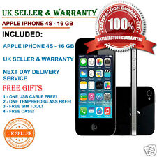 Apple iPhone 4s 16GB Black Unlocked Smartphone B Grade Good Condition FREE GIFTS