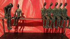"""EXTREME MODERNISM HEAVY METAL SCULPTURE """"TWO AWAY FROM THE CROWD"""""""