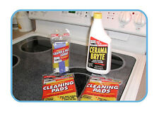 Cerama Bryte Ceramic Cooktop Cleaner & Cleaning Pad 11 Piece Set
