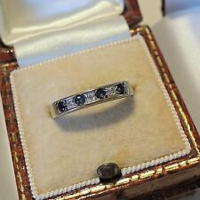 Vintage 9ct Gold Sapphire and Diamond Stacking Eternity Ring