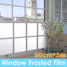 90cm*5m Sand Blast Clear Privacy Frosted Frosting Windows Glass Film Removable