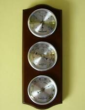 Quality Weather Station Barometer Thermometer Hygrometer Silver Coloured Dials
