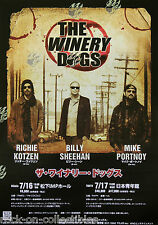 The Winery Dogs 2013 Japan Concert Tour Poster Kotzen Mike Portnoy Billy Sheehan