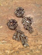 "HEIDI DAUS ""PETAL PASSION"" SWAROVSKI CRYSTAL DROP DANGLE EARRINGS GORGEOUS!!!"