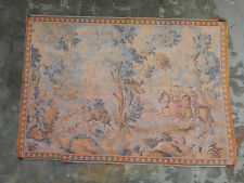 Antique French Tapestry Hunting Scene Wall hanging 102X142cm A79