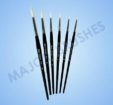 Paint Brushes Pack Of 10 White Synthetic Sable Substitute Size 4 Round Brushes