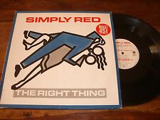 """MAXI 45 TOURS / 12"""" MAXI PROMO--SIMPLY RED--THE RIGHT THING--1987"""