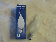 5x E14 25W Flame Tip Bent Candle FROST Lamp Light Bulb 240V Dimmable SES Joblot
