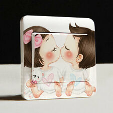1 Pcs Creative Switch Stickers Fashion Cute Small Kiss Series Wall Stickers A