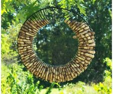 Songbird Essentials WHOLE PEANUT WREATH RING BIRD and SQUIRREL FEEDER, BLACK