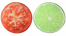 3D Lime + Tomato Slice Memory Foam Cushion Pillow Toy Seat Pad Home Decor