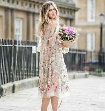 "H&M WOMEN NEW COLLECTION SS17 EMBROIDERED DRESS FLORAL M-L ""SPRING FASHION"""