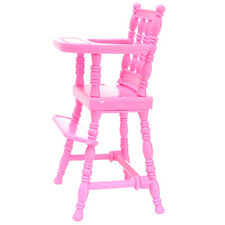 1x New Pink Baby High Chair 1/6 Barbie Doll's House Furniture Funny