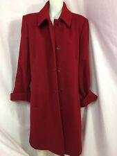 Talbots Dark Red Wool Coat Women's Women's Size 16 NWT