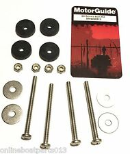 Trolling Motor Mount Kit, Motor Guide Mounting Bolt Kit w/ rubber Isolators