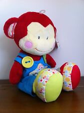 RUSS Berrie New Baby Boy Learning Activity Monkey Soft Plush Toy Gift Large