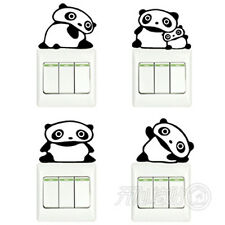 4 Pcs Switch Stickers China Panda Series Bedroom Parlor Wall Glass Stickers DIY