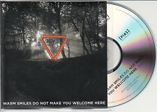 ENTER SHIKARI Warm Smiles Do Not Make You Welcome Here UK promo test CD edit