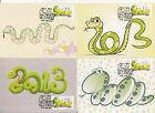 Macau 2013 Zodiac New year Snake Frama Label set of 4 stamp Maximum card 02 RARE