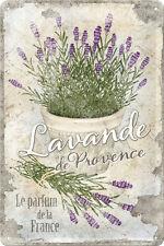 Lavande de Provence Lavendel Blechschild 20x30 cm Sign Schild 22200 Kräuter