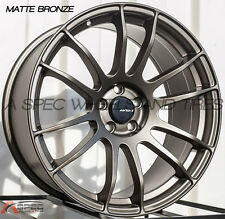 18X8.5 AVID.1 WHEELS AV20 5X114.3 +33MM MATTE BRONZE RIM FITS MAZDA SPEED3 RX8