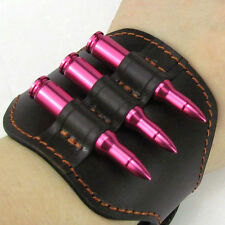 Tourbon Rifle Ammo Bullets Holder Wristband Band Cartridges Carry Wrist Leather