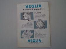 advertising Pubblicità 1958 SVEGLIA VEGLIA BORLETTI ZIRCONIA/ERICA/CONTAMINUTI
