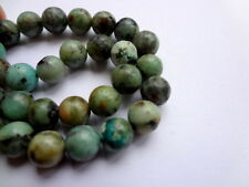 "6mm Genuine Semi Precious African Turquoise Round Gemstone Beads - 15"" Strand"