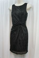 Calvin Klein Petite Dress Sz 6P Black Sleeveless Sparkly Cocktail Evening