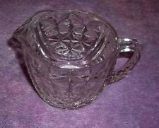 VINTAGE Anchor Hocking STARS and BARS Clear Pressed-Glass Creamer