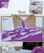JOY CRAFTS DIE CUTTING EMBOSSING STENCIL TRAVEL MOUNTAIN LANDSCAPE 6002/0283