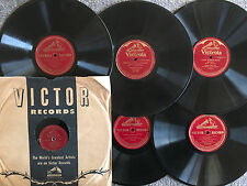 """Lot of 6 CLASSICAL VIOLIN SOLOS/OPERA 12"""" 78rpm early pre-war ALL GRADED/LISTED"""