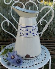 ANCIEN BROC EMAILLE CAFETIERE STYLE LUSTUCRU