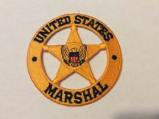 """UNITED STATES MARSHAL GOLD STAR 4"""" PATCH  NEW !!"""