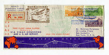 1937 CNAC Shanghai China FFC First Flight Cover to San Francisco USA W Map Route