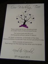 Handmade Personalised Large A4 size Wishing Tree Sign - with poem verse
