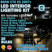 BMW E70 X5 LED INTERIOR COMPLETE FULL KIT SET UPGRADE BULBS XENON WHITE PAN ROOF