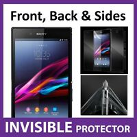 Sony Xperia Z ULTRA Full Body INVISIBLE Screen Protector Shield Front & Back