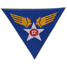 US Army USAAF 12th Air Force Badge- WW2 Repro American Airforce Divisional Patch