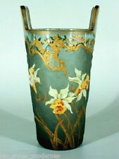 LEGRAS & Cie.Jugendstil Glasvase ° Emailmalerei ° france art nouveau art glass °