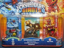 Skylanders Gigantes-Triple caracteres Battle Pack-Zap Scorpion Striker Hot Dog